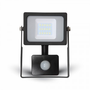 LED venkovní reflektor SLIM SMD Premium PIR 10W denní bílá
