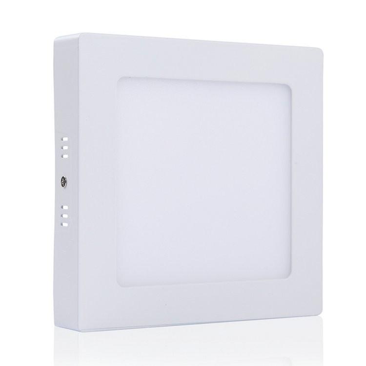 LED přisazené svítidlo s čidlem pohybu SURF MW 24W, čtverec, denní bílá