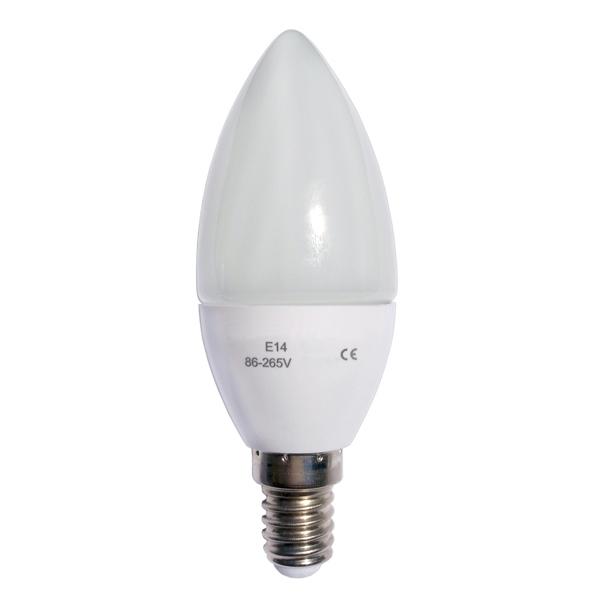 LED stmívatelná žárovka E14 6W svíčka, 480 lm, teplá bílá