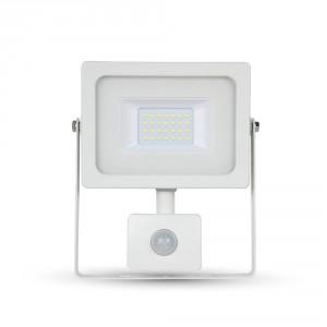 LED venkovní reflektor SLIM SMD Premium PIR IP65 20W denní bílá