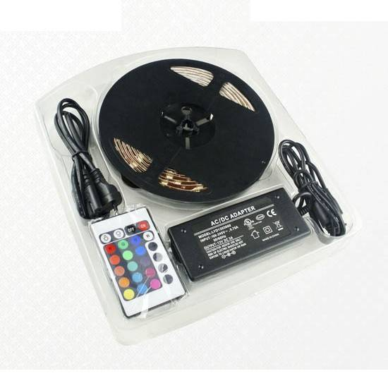 LED RGB páska, trafo, ovladač-SET01