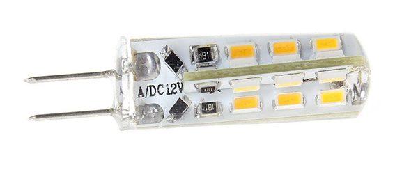 LED žárovka G4 2W 12V DC teplá bílá