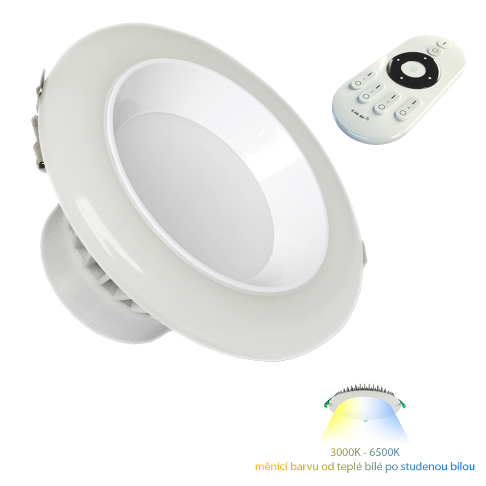 LED podhledové svítidlo 12W 3000K-6000K CCT change