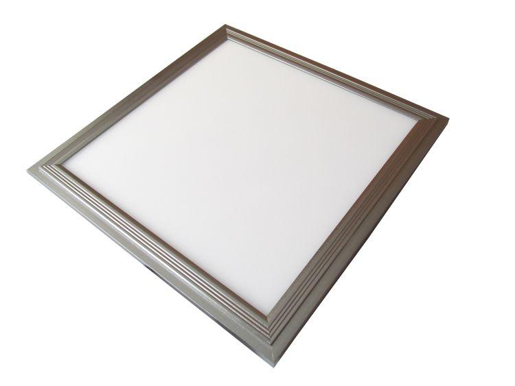 LED stropní panel 300x300 13W IP20, stříbrný rám, studená bílá