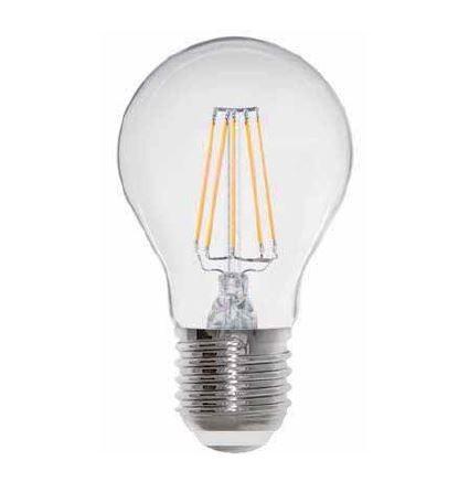 LED žárovka stmívatelná filament 8W čirá E27 teplá bílá