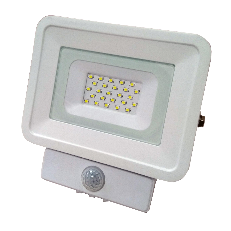 LED venkovní reflektor SMD Classic2 PIR bílý 10W studená bílá