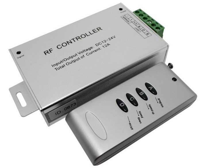 Ovladač s RF DO pro RGB LED pásky, 12V, 12A
