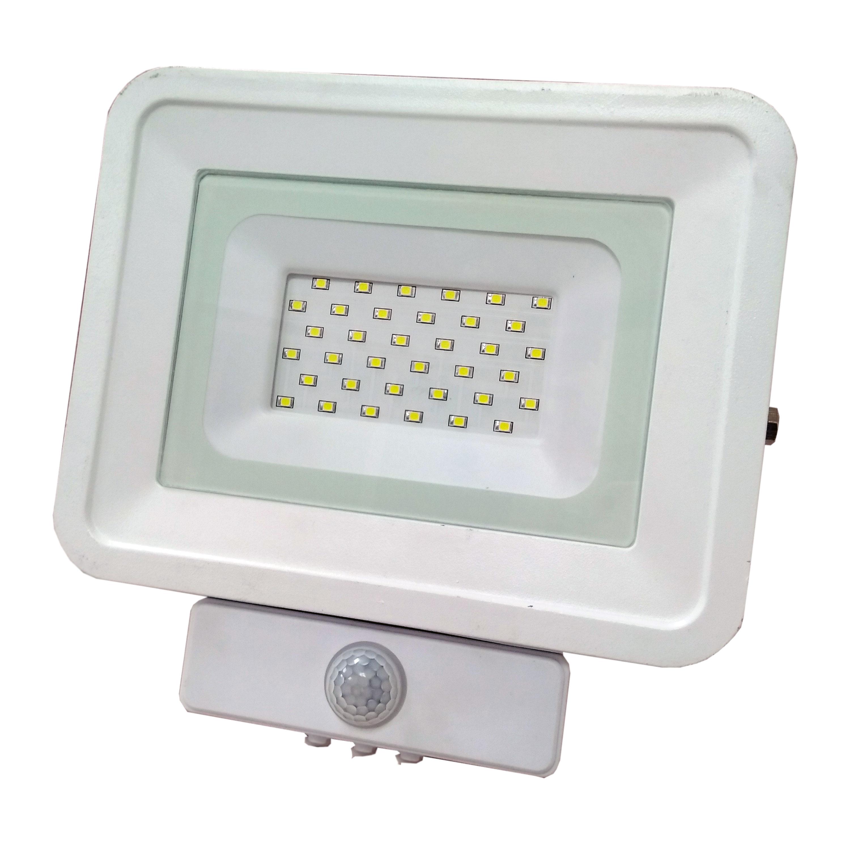 LED venkovní reflektor SMD Classic2 PIR bílý 20W studená bílá