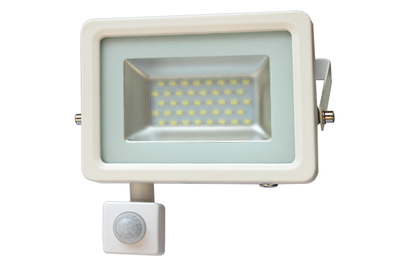 LED venkovní reflektor SMD I-Design PIR 30W denní bílá