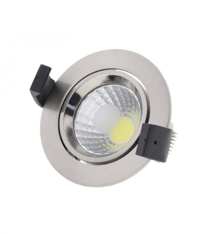 LED COB podhledové svítidlo inox 8W kruh teplá bílá