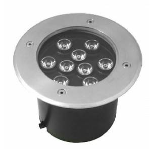 LED podzemní reflektor 9W studená bílá