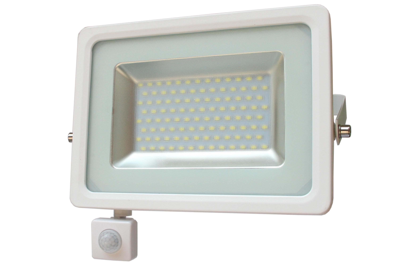 LED venkovní reflektor SMD I-Design PIR 50W denní bílá