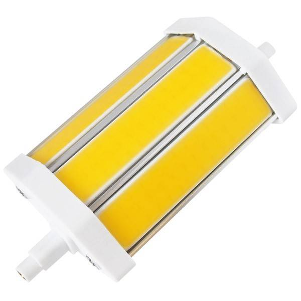 LED žárovka COB 10W R7s 118mm studená bílá