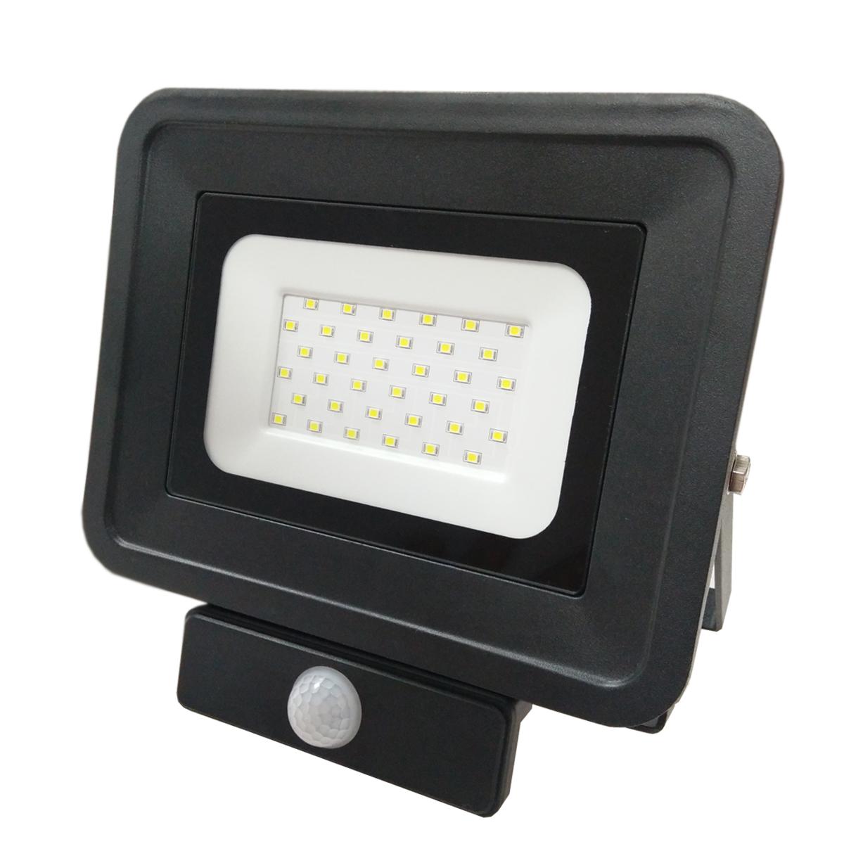 LED venkovní reflektor SMD Classic2 PIR černý 30W studená bílá