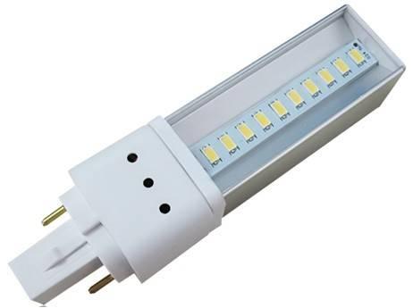 LED žárovka G24d, 9W, 6500K