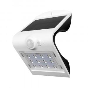 LED solární svítidlo na stěnu s čidlem 1.5W 4000K bílé