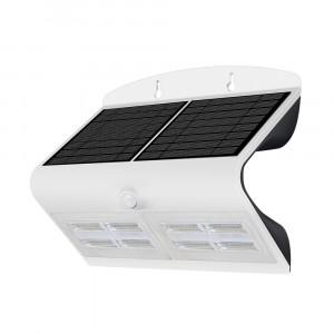 LED solární svítidlo na stěnu s čidlem 7W 4000K bílé