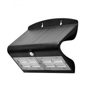 LED solární svítidlo na stěnu s čidlem 7W 4000K černé