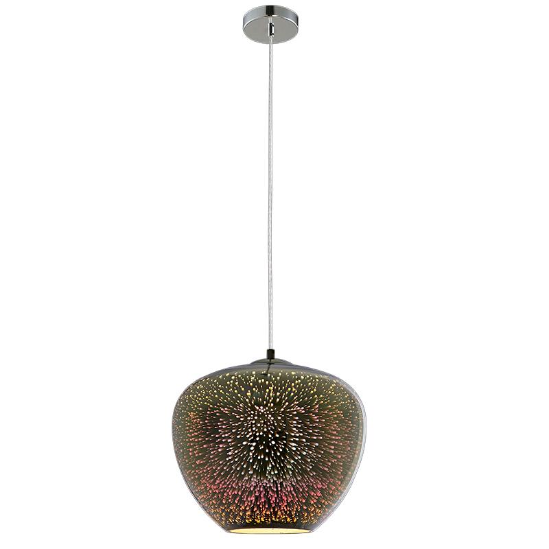 Designový 3D lustr Fireworks sklo, chrom, D290xH250mm