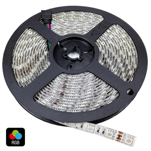 LED páska SMD5050 5m 60ks/m 14,4W/m RGB, IP20, 24V