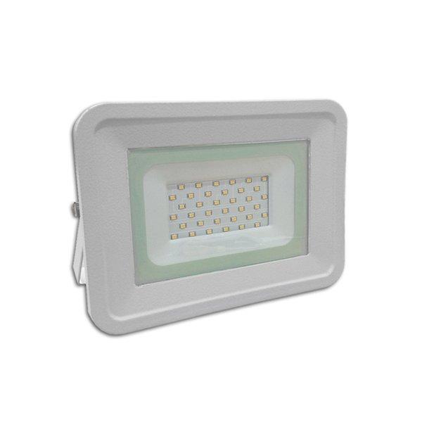 LED venkovní reflektor SLIM SMD CLASSIC2 bílý IP65 30W neutrální bílá