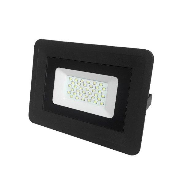 LED venkovní reflektor SLIM SMD CLASSIC2 černý IP65 30W neutrální bílá