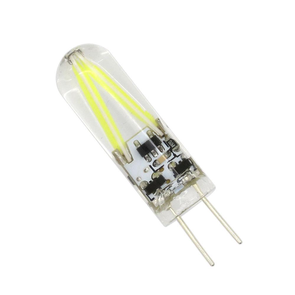 LED žárovka G4 GLASS 2W 12V AC/DC teplá bílá