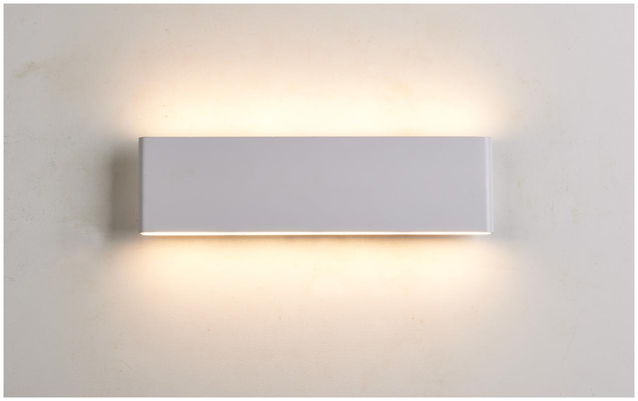 LED design svítidlo nástěnné obdélník 8W teplá bílá