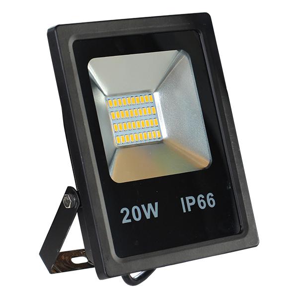 LED venkovní reflektor SLIM SMD IP66 20W studená bílá
